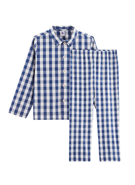 Petit Bateau Geruite pyjama - 6j
