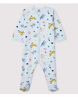 Petit Bateau Lichtblauwe pyjama met dierenprint