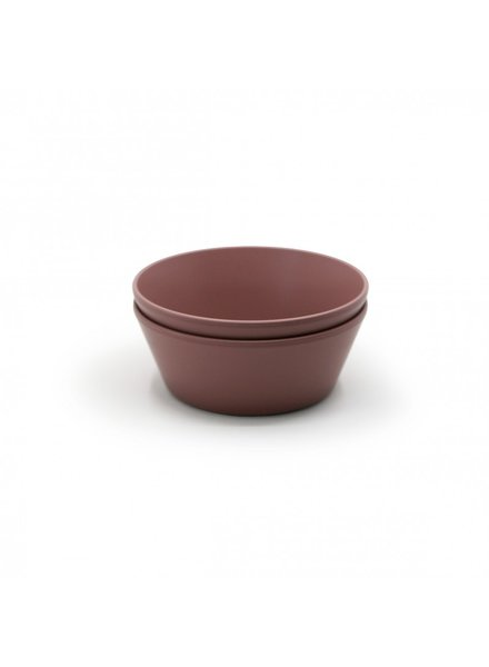 Mushie Set van 2 ronde bowls   Woodchuck