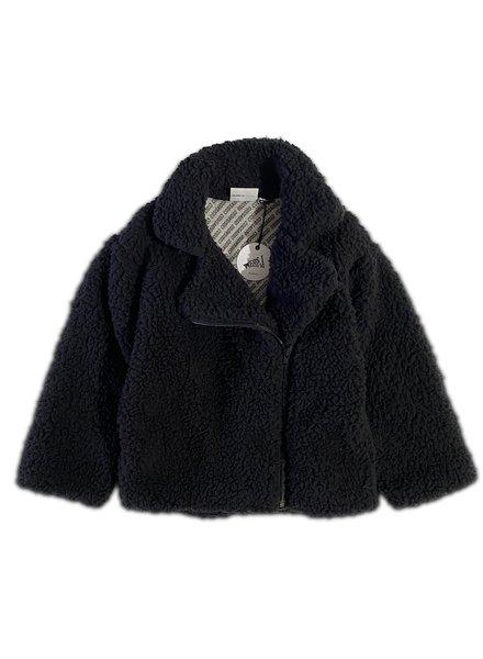 Cos I said so Biker jacket | Sherpa Black Onyx