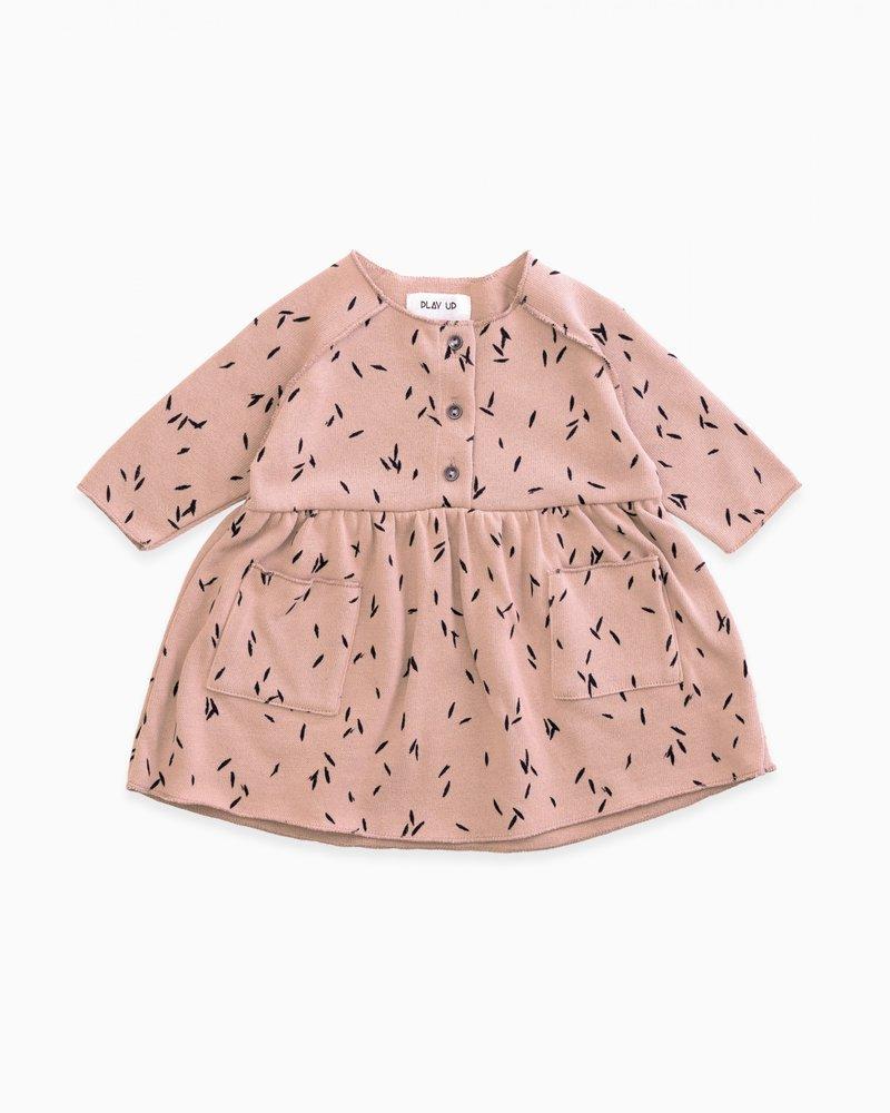Play Up Roze kleedje met blaadjes | Jatobá