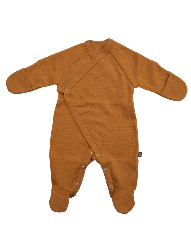 Forgaminnt Pyjama met voetjes | Mustard Sunset