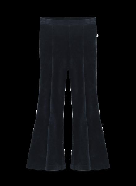 Ammehoela Liv velours broek met olifantenpijpen   Deep Blue