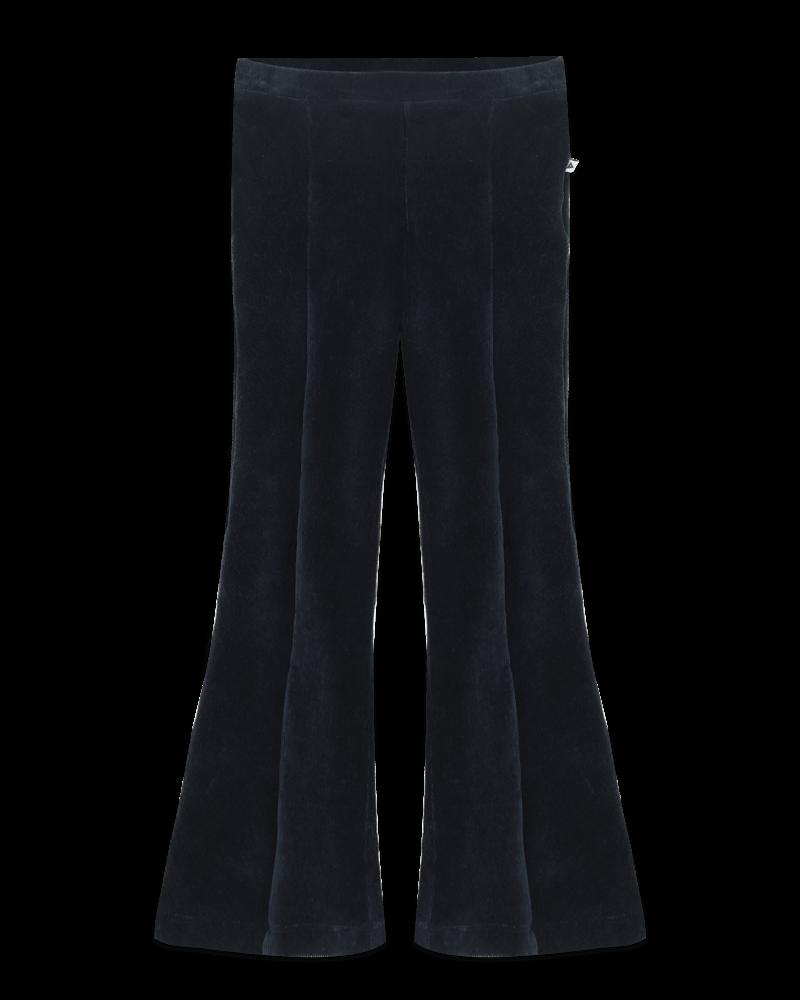 Ammehoela Liv velours broek met olifantenpijpen | Deep Blue
