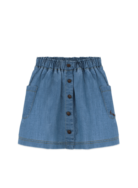 Ammehoela Flynne jeansrok | Denim Blue