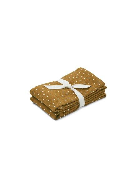 Liewood Lewis set van 2 tetradoeken | Confetti Olive