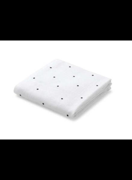 Liewood Hannah set van 2 tetradoeken Classic dot crisp white