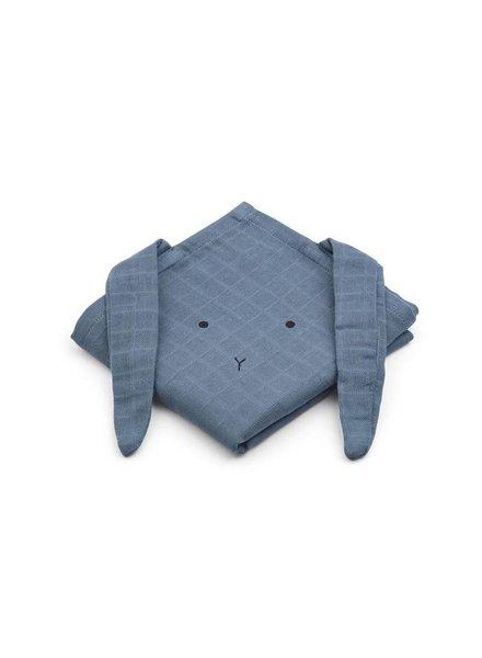 Liewood Hannah set van 2 tetradoeken Rabbit blue wave