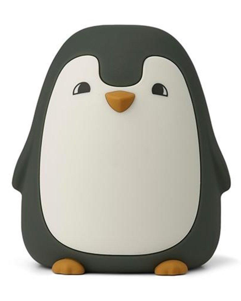 Liewood Ditlev nachtlamp   Pinguin hunter green