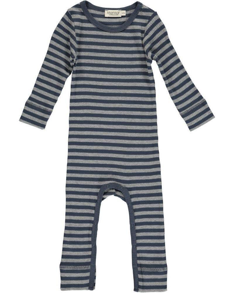 MarMar Pakje | Modal stripes | Blue-Grey Melange