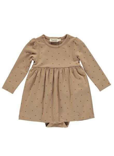 MarMar Ramona babykleedje met body | Golden Olive Dot