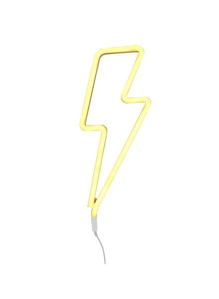 A Little Lovely Company Neon stijl lamp | Bliksem geel