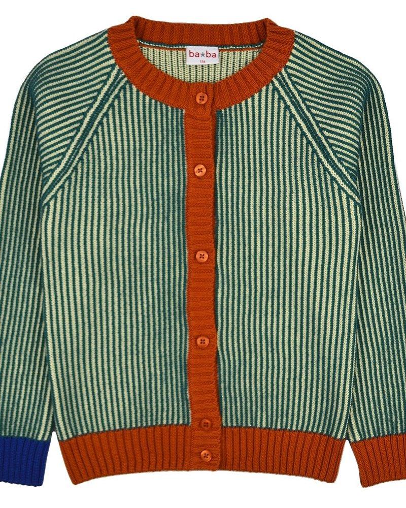 ba*ba babywear Gebreide cardigan | Pacific stripes