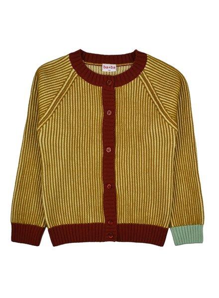 ba*ba babywear Gebreide cardigan | Mustard stripes