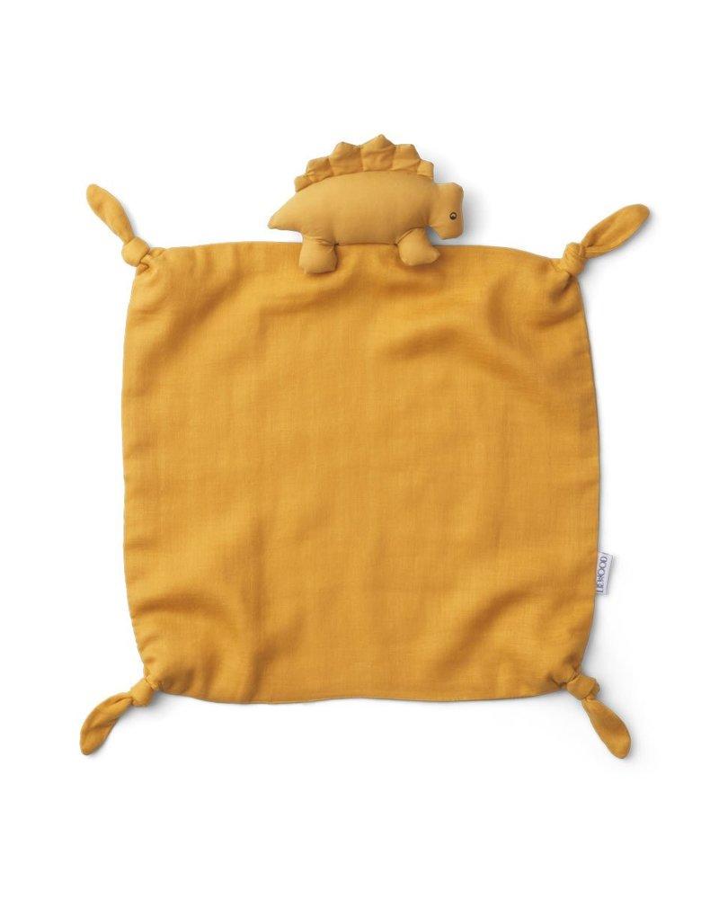 Liewood Agnete knuffeldoekje   Dino yellow mellow