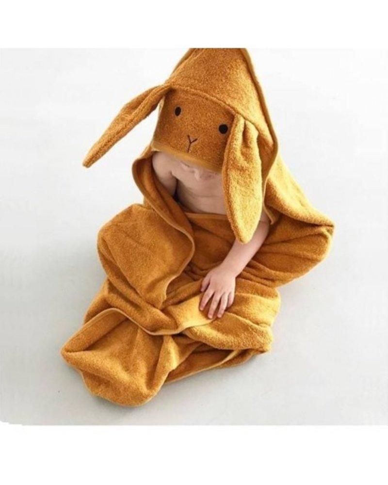 Liewood Albert kleine badcape | Rabbit Mustard