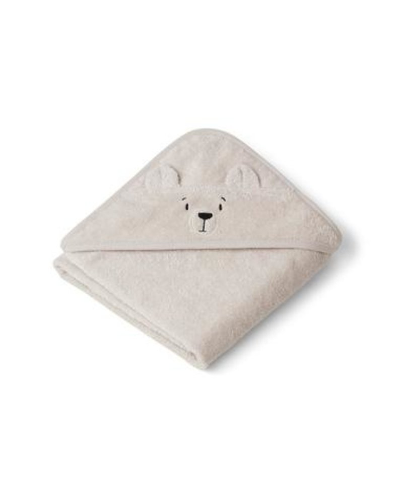 Liewood Albert kleine badcape | Polar Bear Sandy