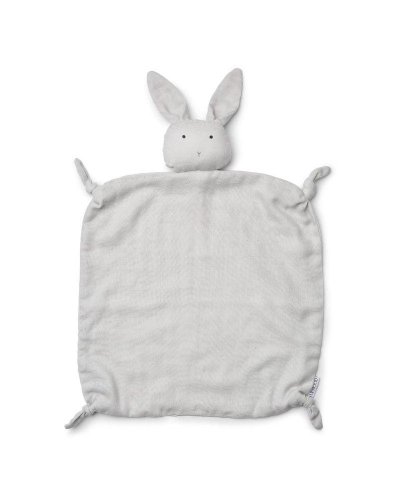 Liewood Lotte knuffeldoekje | Rabbit pale grey