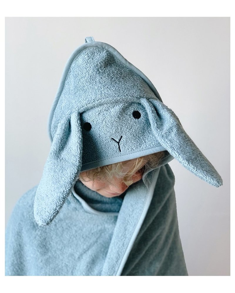 Liewood Albert kleine badcape | Rabbit Sea Blue