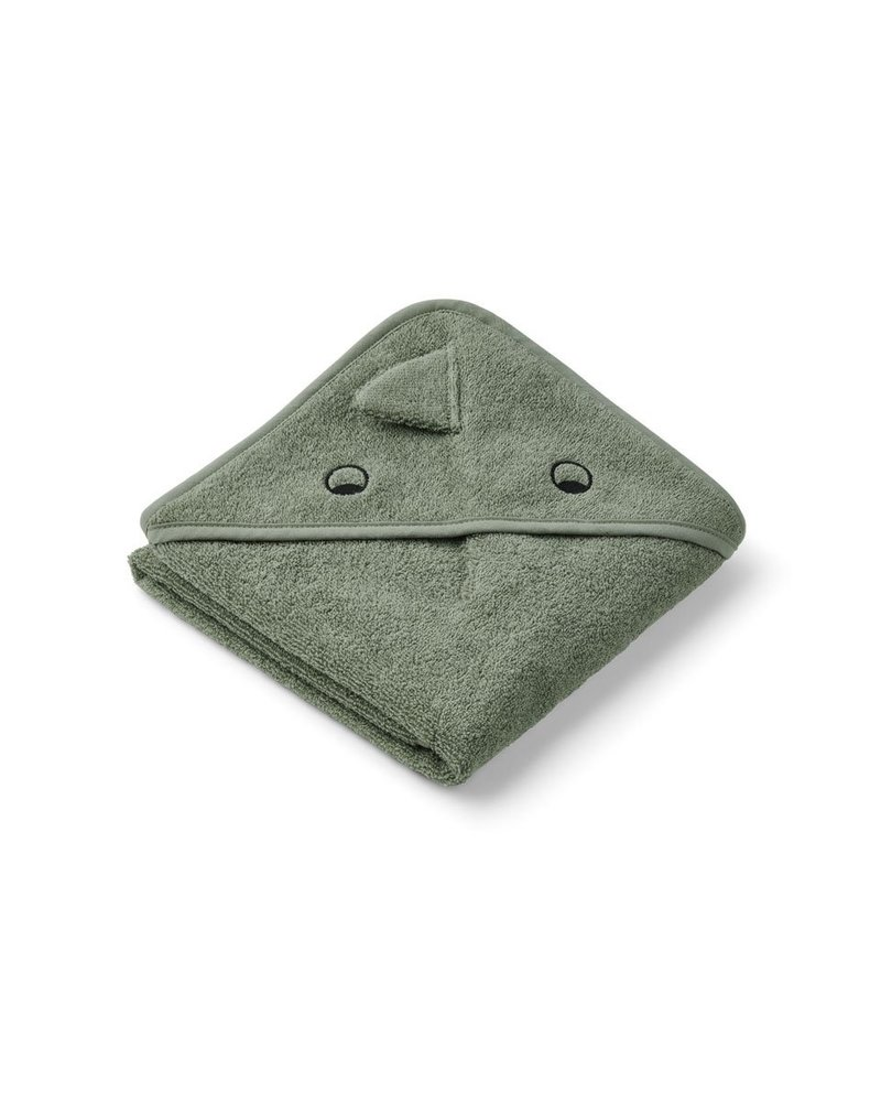 Liewood Albert kleine badcape | Dino Faune Green