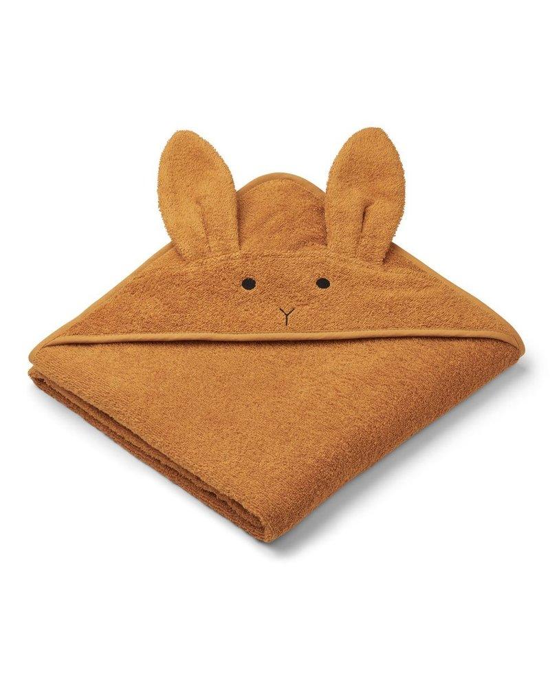 Liewood Augusta grote badcape | Rabbit Mustard