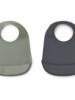 Liewood Slab Tilda silicone 2-pack Faune green/stone grey mix