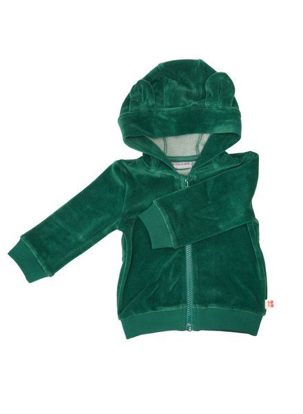 Froy & dind Hoodie velours balou | Evergreen