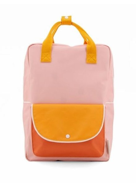 Sticky Lemon Rugzak Large | Wanderer Candy pink + sunny yellow + carrot orange