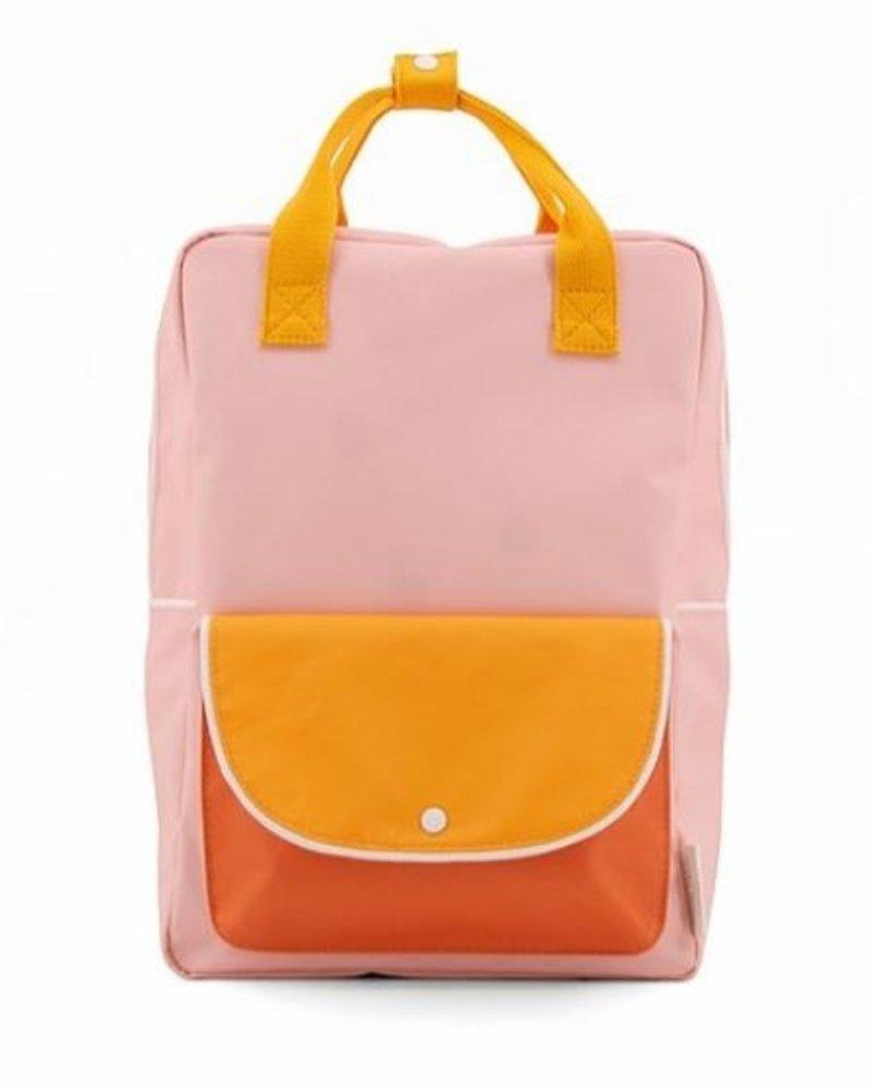 Sticky Lemon Rugzak Large | Wanderer Candy pink + sunny yellow + carrot orange