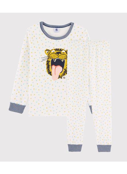 Petit Bateau Pyjama met confettiprint en grote tijger