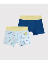 Petit Bateau Set van 2 boxershorts | Blauw + yogadieren