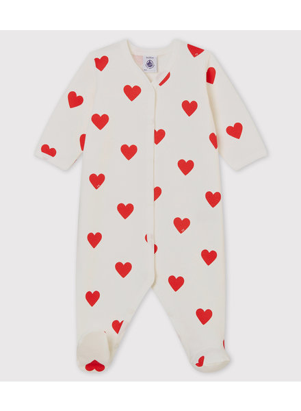 Petit Bateau Warme pyjama met hartjes