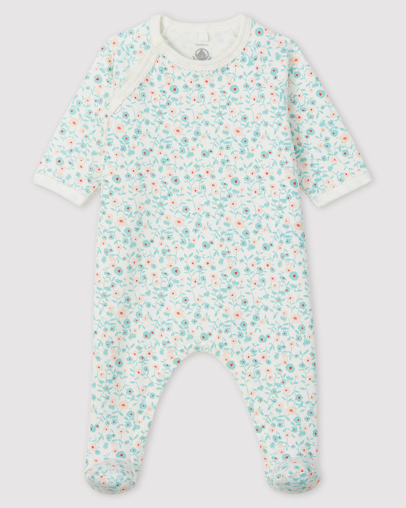 Petit Bateau Pyjama met molton met bloemenprint