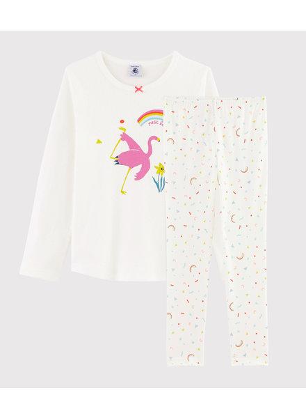 Petit Bateau Pyjama met flamingo en vrolijke broek