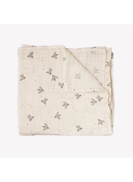 Main Sauvage Swaddle 110x110 Pigeons
