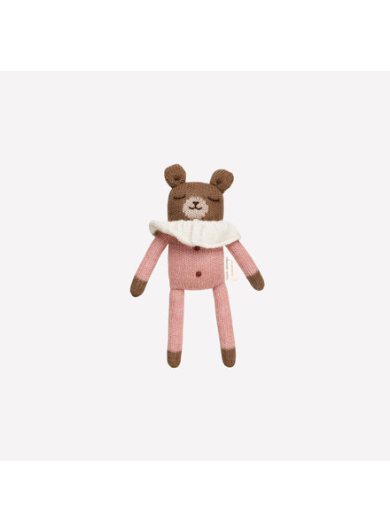 Main Sauvage Doudou beertje met roze pyjama