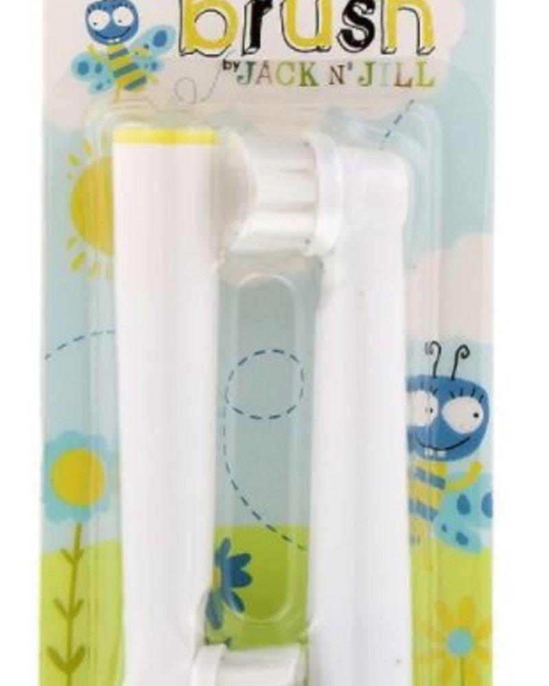 Jack & Jill Set van 2 opzetborsteltjes voor de Buzzy Brush