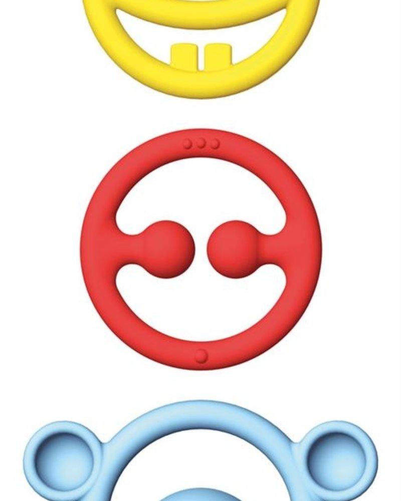 moluk Set van 3 bijtringen   Primaire kleuren