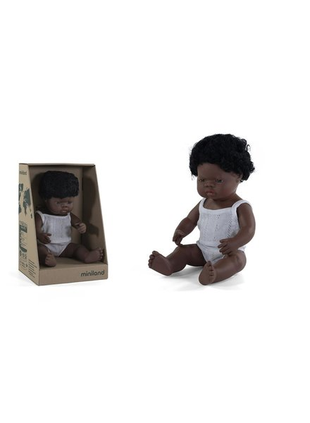 Miniland Pop | Afrikaanse jongen - vanillegeur (38cm)
