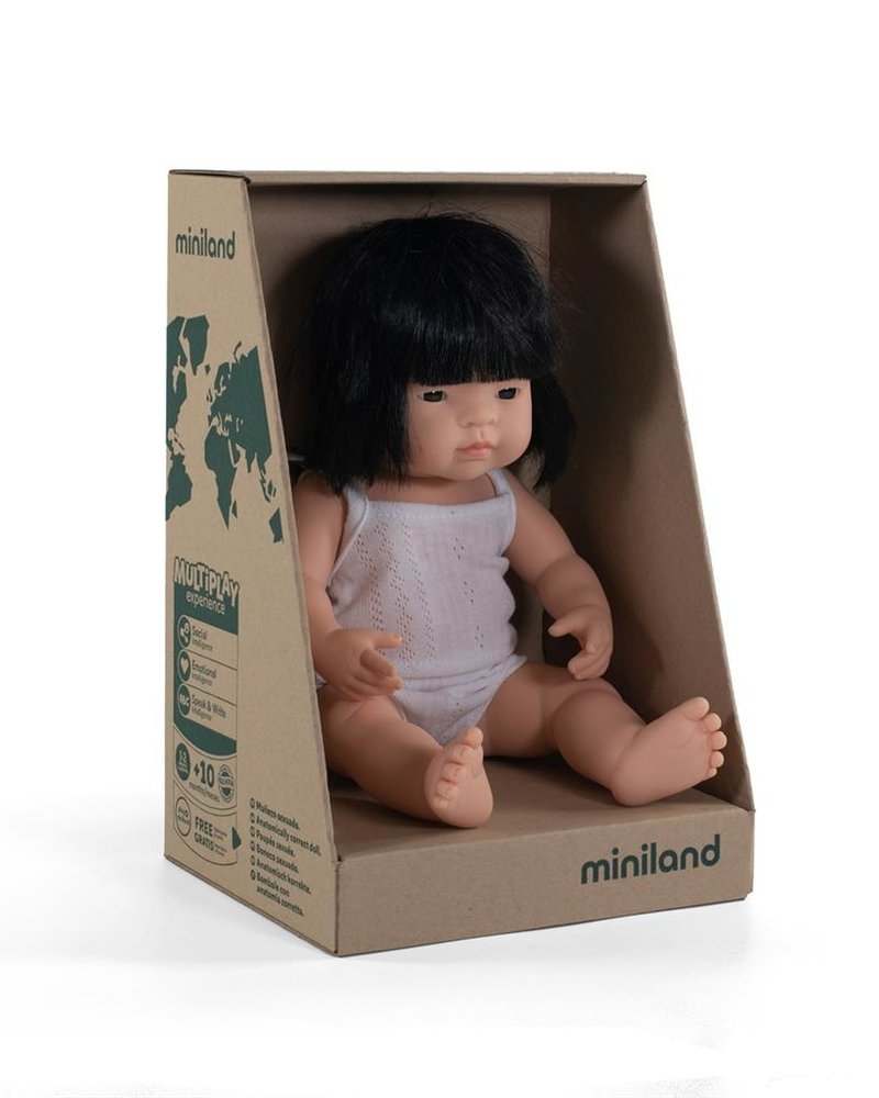 Miniland Pop | Aziatisch meisje - vanillegeur (38cm)