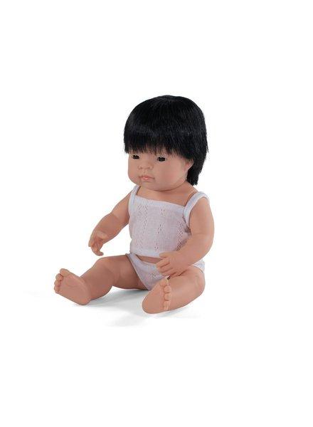 Miniland Pop | Aziatische jongen - vanillegeur (38cm)