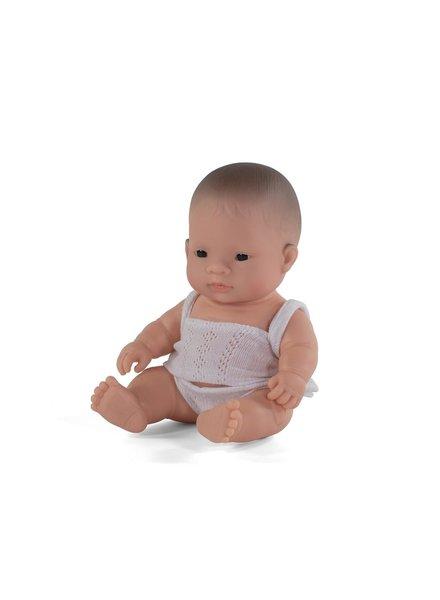 Miniland Babypop | Aziatische jongen - vanillegeur (21cm)