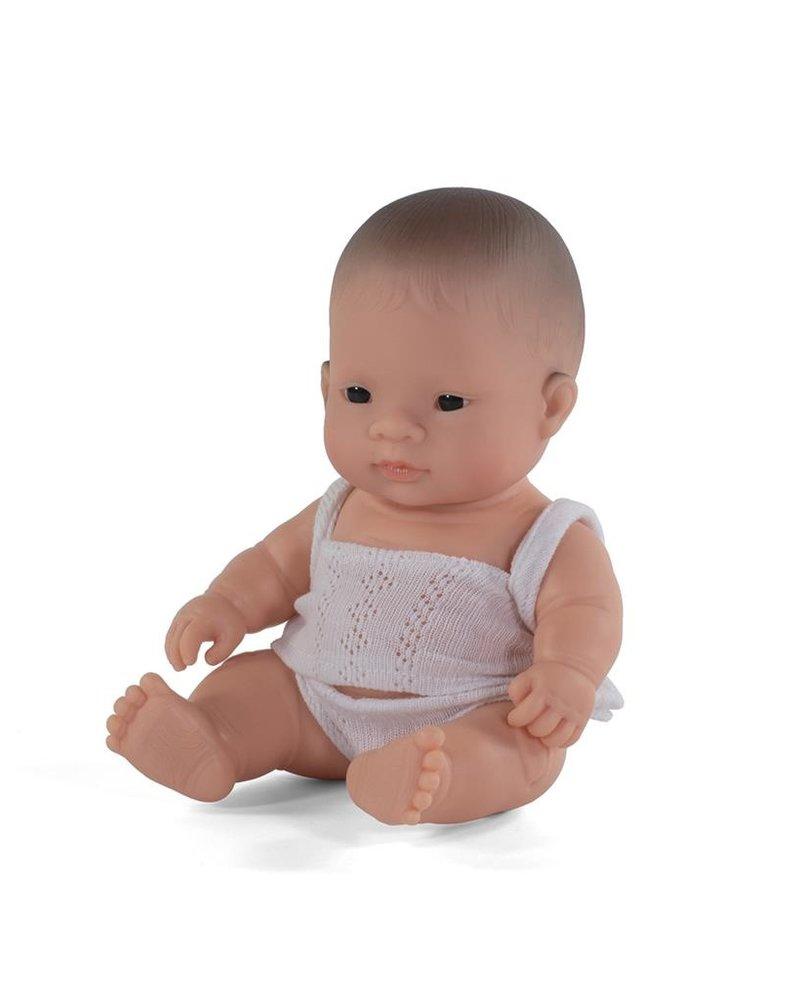 Miniland Babypop   Aziatische jongen - vanillegeur (21cm)