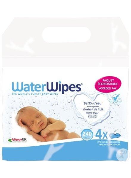 WaterWipes WaterWipes Voordeelpak 4x60st
