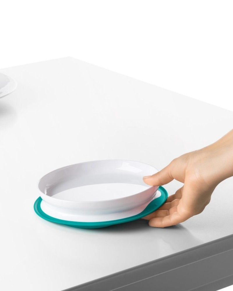 oxo tot Stick & Stay Plate Teal