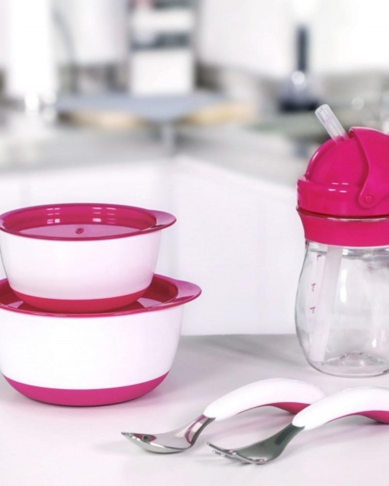 oxo tot Transitions Grote rietjesbeker (250ml) Pink