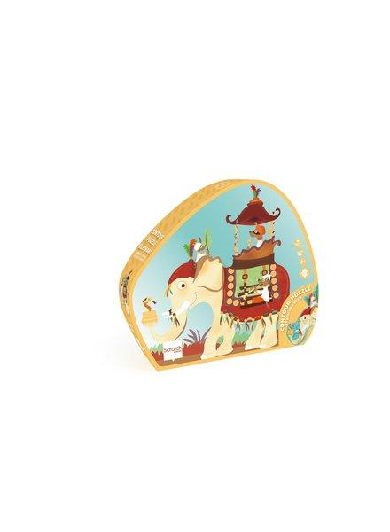 Scratch Contour puzzel 37st | Olifant