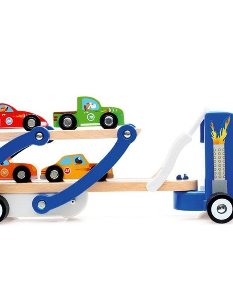 Scratch Vrachtwagen Contiloop (+4 autootjes)