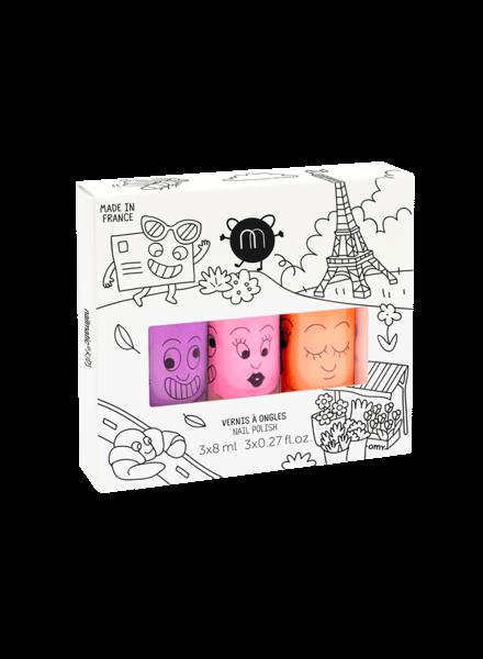 Nailmatic Set van 3 nagellakjes op waterbasis | Paris
