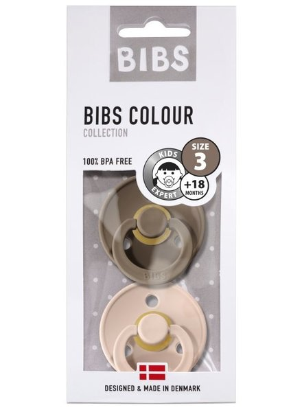 Bibs Set van 2 Bibs maat 3 - Dark oak + Blush